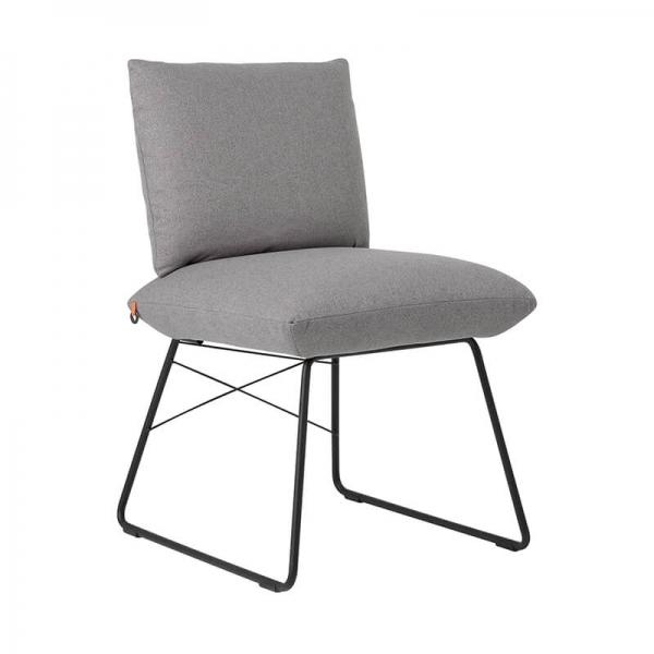 Chaise tendance grise avec structure en métal noir - Cosy Mobitec® - 6