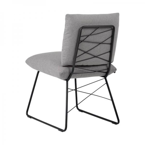 Chaise confortable grise avec structure en métal noir - Cosy Mobitec® - 8