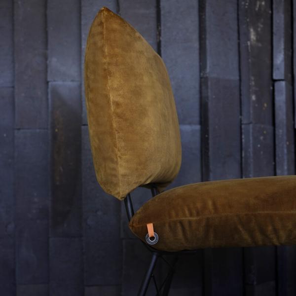Chaise marron jaune avec structure en métal - Cosy Mobitec® - 12