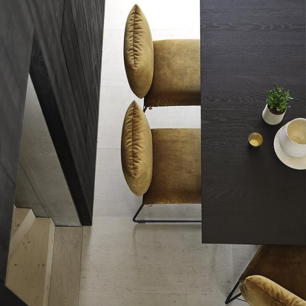 Chaise de designer en tissu avec structure en métal - Cosy Mobitec® - 14