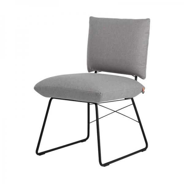 Chaise confortable grise avec structure en métal noir - Cosy Mobitec® - 9