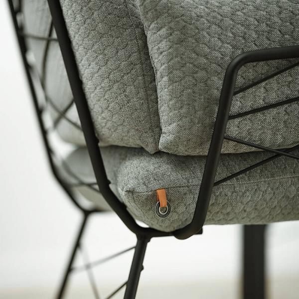 Fauteuil design en tissu vert et pieds en métal noir - Cosy Mobitec® - 12