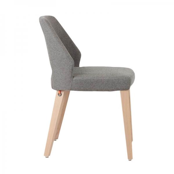 Chaise en tissu rembourrée et pieds bois style moderne - Lena Mobitec® - 9