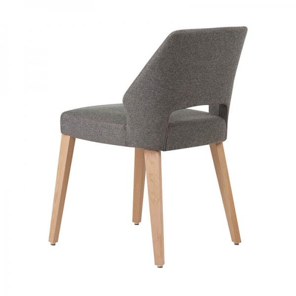Chaise mobitec en tissu gris et pieds bois naturel - Lena Mobitec® - 10