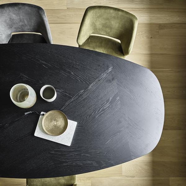 Chaise ajourée en tissu et pieds bois style moderne - Lena Mobitec® - 21