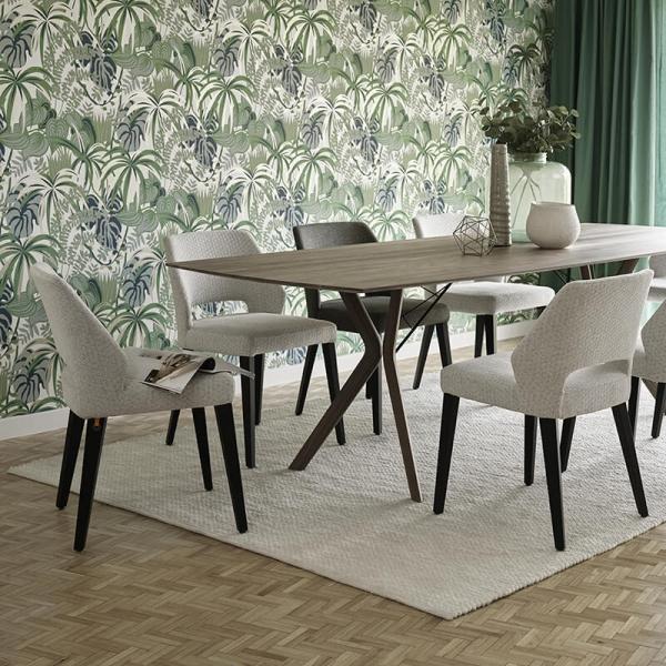 Chaise ajourée en tissu et pieds bois style moderne - Lena Mobitec® - 2