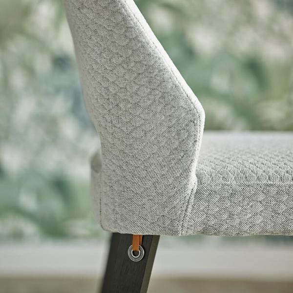 Chaise en tissu et pieds bois massif - Lena Mobitec® - 5