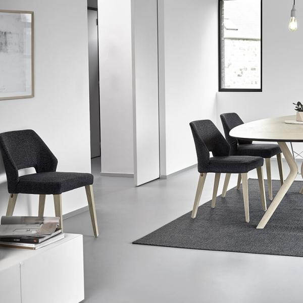 Chaise en tissu gris foncé - Lena Mobitec® - 15