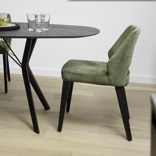 Chaise style moderne en tissu vert - Lena Mobitec® - 25