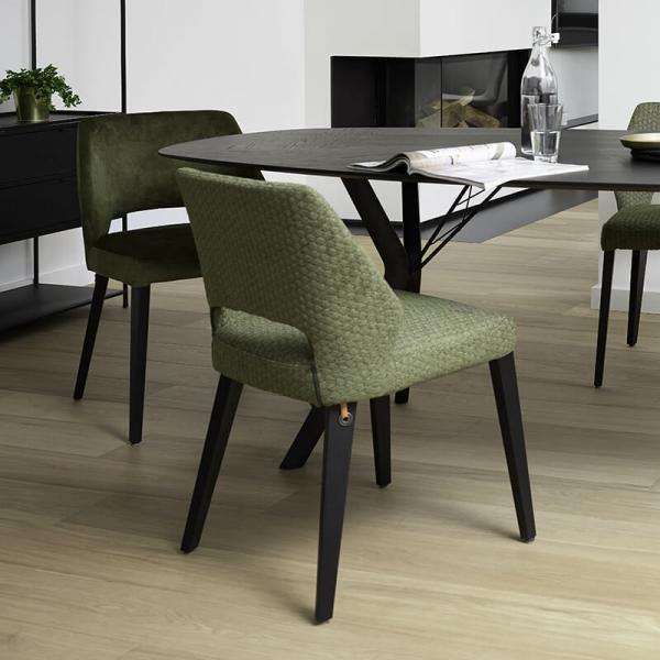 Chaise ajourée en tissu et pieds bois style moderne - Lena Mobitec® - 26