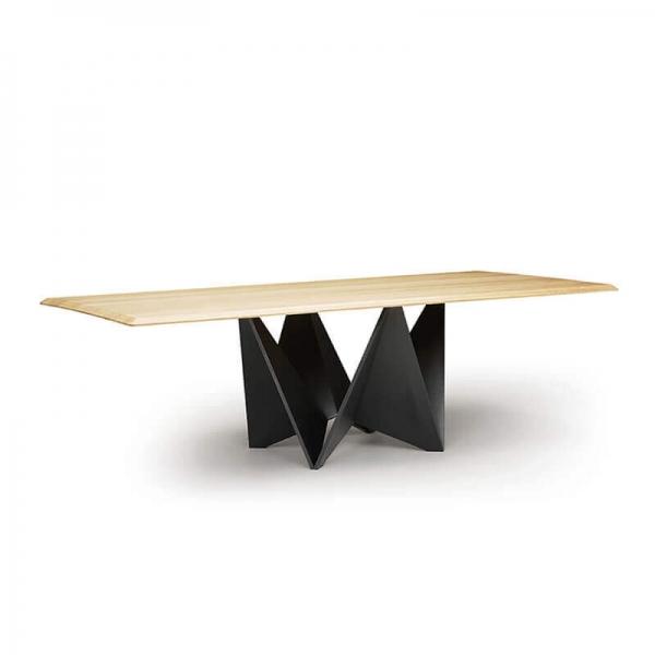 Table extensible design italien pied original et plateau en bois - Origami  - 5