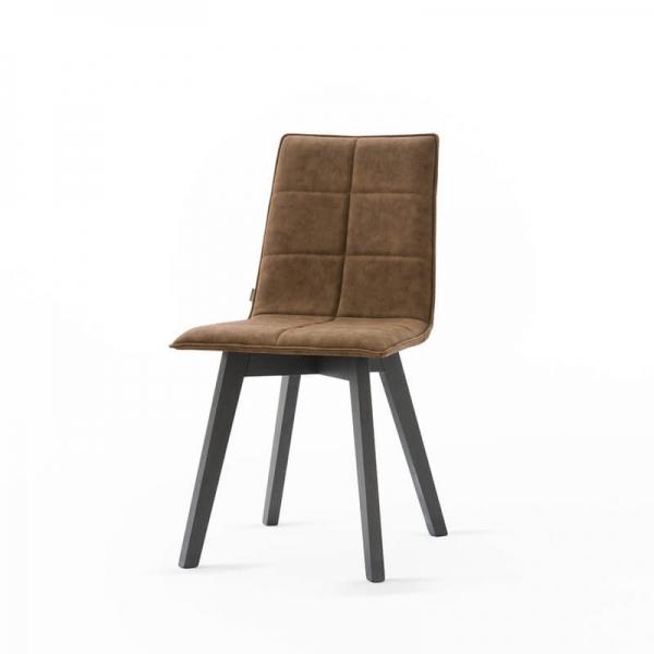 Chaise moderne en bois à coque matelassée - Iris Wood - 2