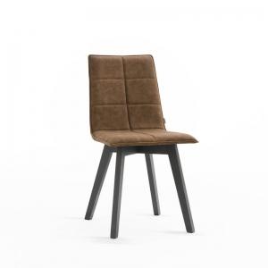 Chaise moderne en bois à coque matelassée - Iris Wood