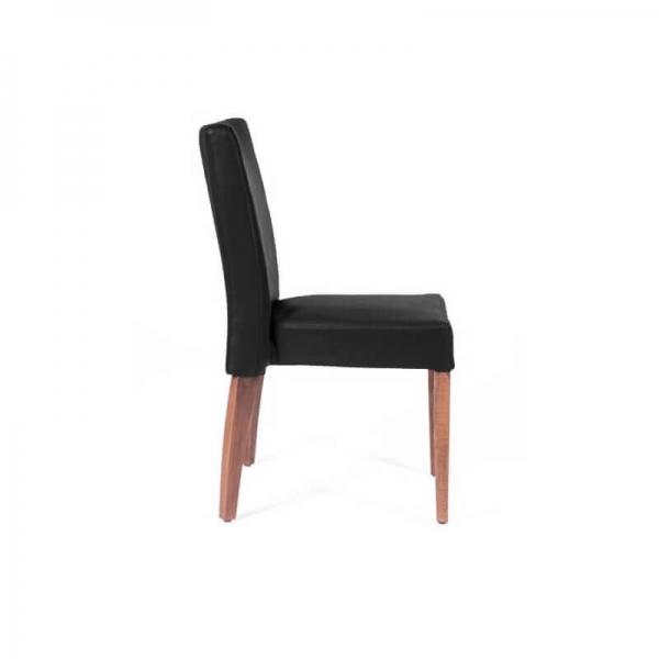Chaise confortable empilable noire avec pieds en bois - Matias 2 stack - 2