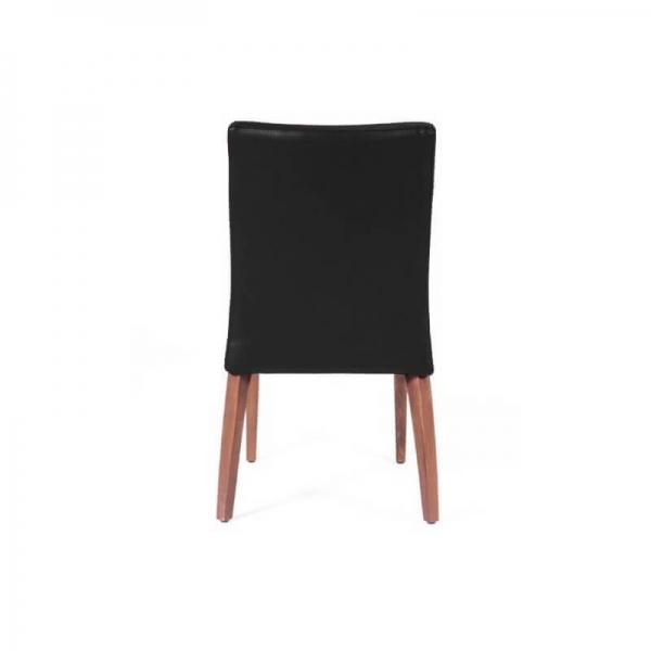 Chaise confortable empilable noire avec pieds en bois - Matias 2 stack - 3