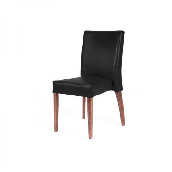 Chaise confortable empilable noire avec pieds en bois - Matias 2 stack - 4