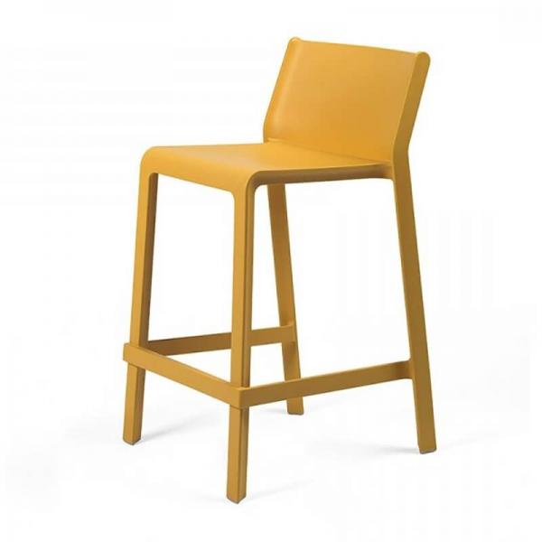 Tabouret hauteur 65 cm en polypropylène jaune moutarde empilable - Trill mini - 15