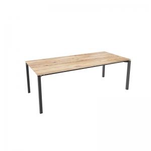 Table rectangulaire industrielle en bois pieds métal - Float Mobitec