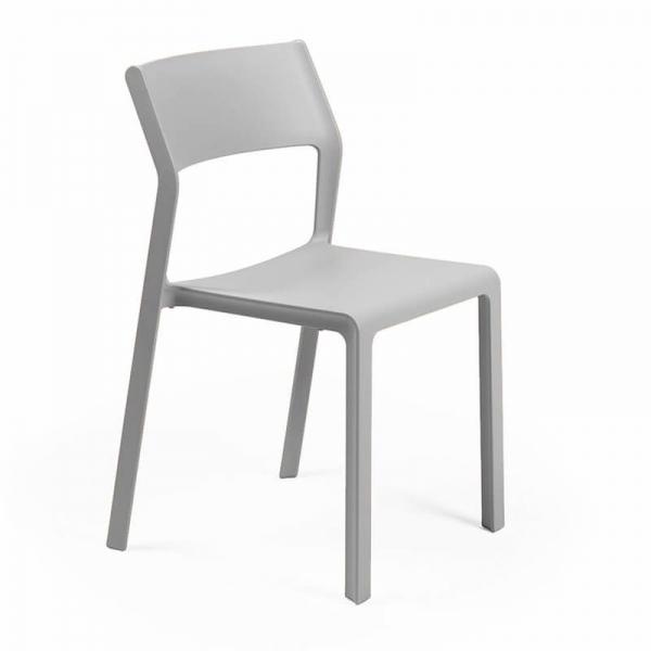 Chaise d'extérieur empilable en polypropylène grise - Trill bistrot - 21