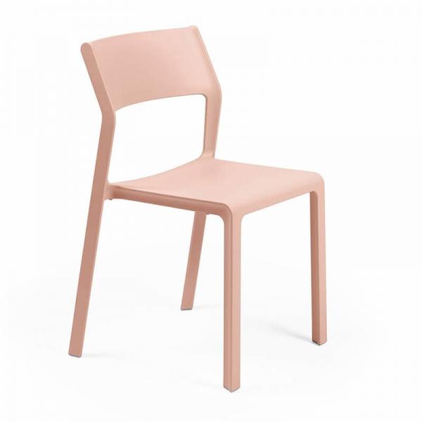 Chaise d'extérieur empilable en polypropylène rose - Trill bistrot - 19