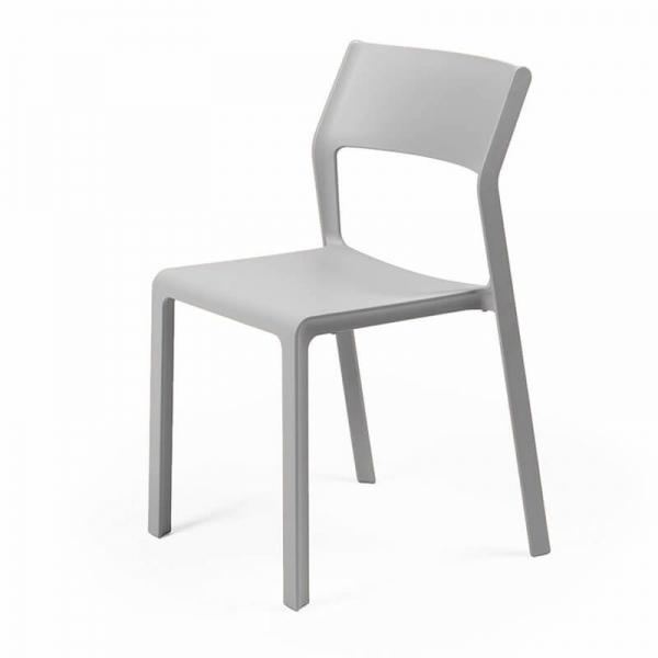 Chaise d'extérieur empilable en polypropylène grise - Trill bistrot - 22