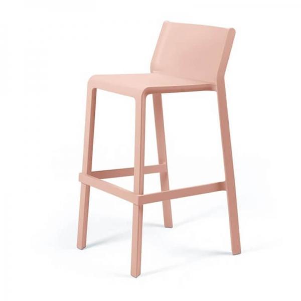 Tabouret de bar de jardin empilable en plastique rose - Trill stool - 19