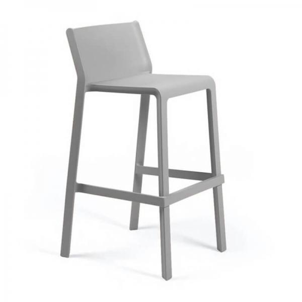 Tabouret de bar moderne empilable en polypropylène gris - Trill stool - 20