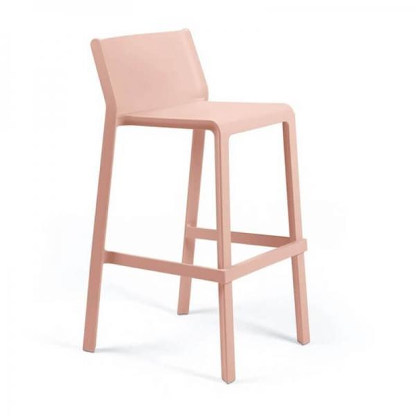 Tabouret de bar moderne empilable en polypropylène rose - Trill stool - 18