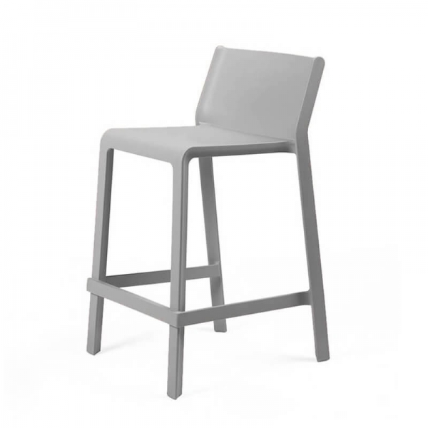 Tabouret snack empilable gris - Trill mini - 25