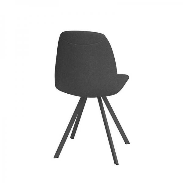 Chaise rotative noire moderne - Girona - 3