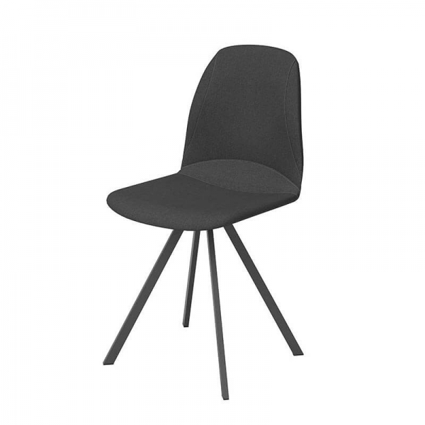 Chaise noire pivotante - Girona - 4