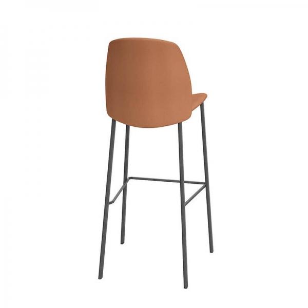 Tabouret de bar moderne orange - Olivia - 3