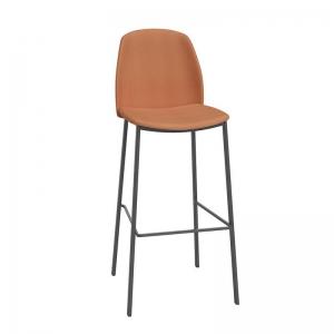 Tabouret de bar moderne orange - Olivia