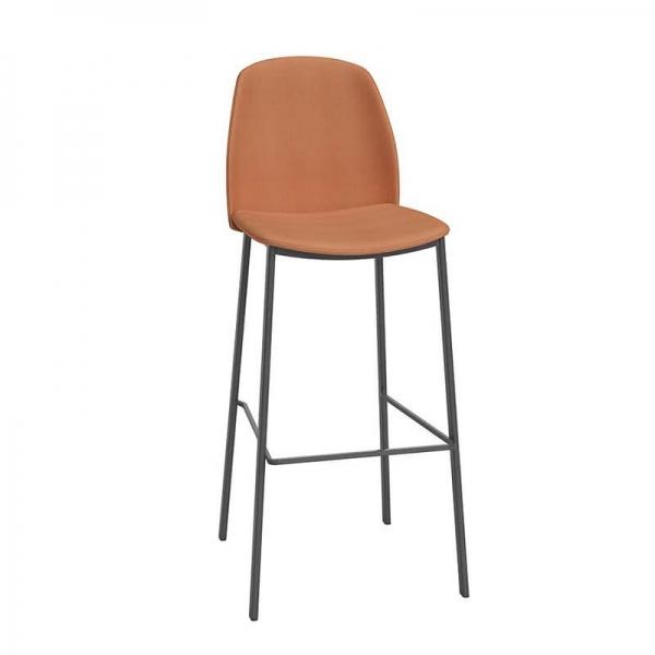 Tabouret de bar moderne orange - Olivia - 1