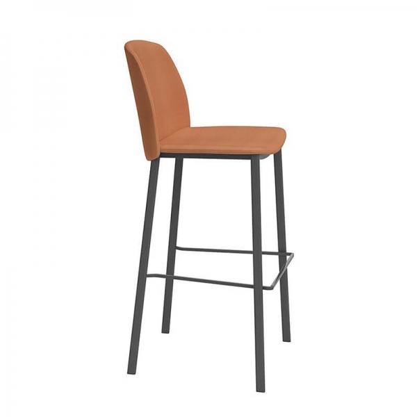 Tabouret de bar moderne orange - Olivia - 2