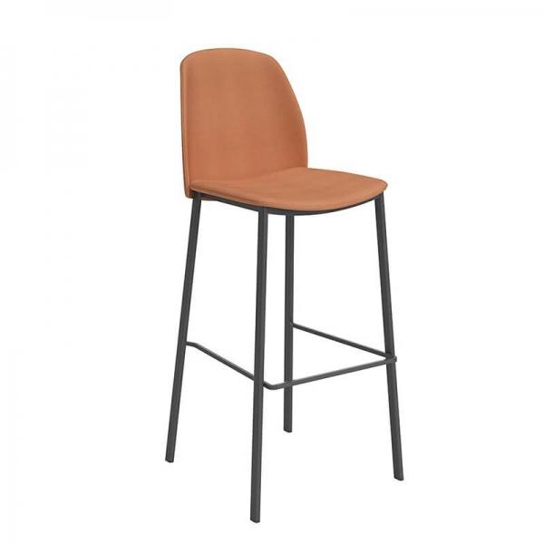 Tabouret de bar moderne orange - Olivia - 4