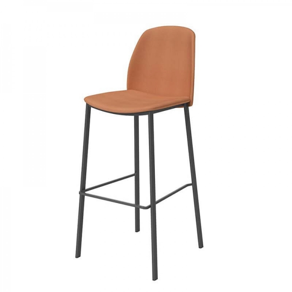 Tabouret de bar moderne orange - Olivia - 5