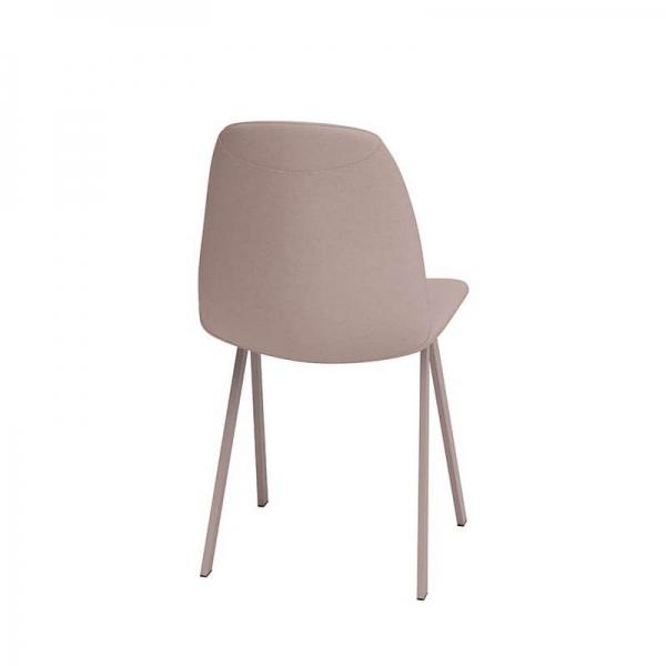 Chaise rose de salle à manger moderne rembourrée - Ona - 2