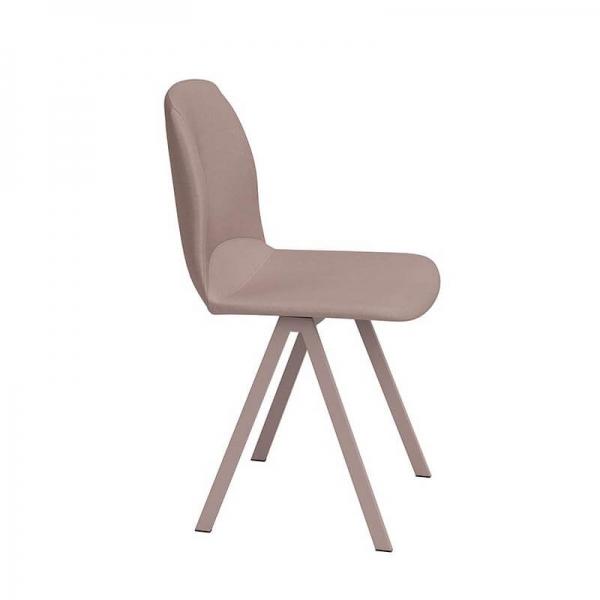 Chaise de séjour rose moderne rembourrée - Ona - 3