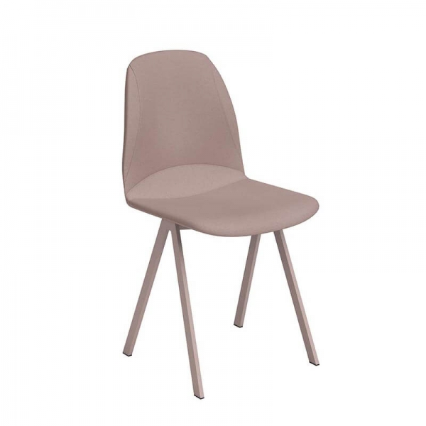 Chaise à manger rose moderne rembourrée - Ona - 4