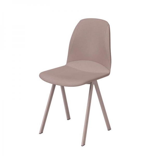 Chaise rembourrée rose style moderne - Ona - 5