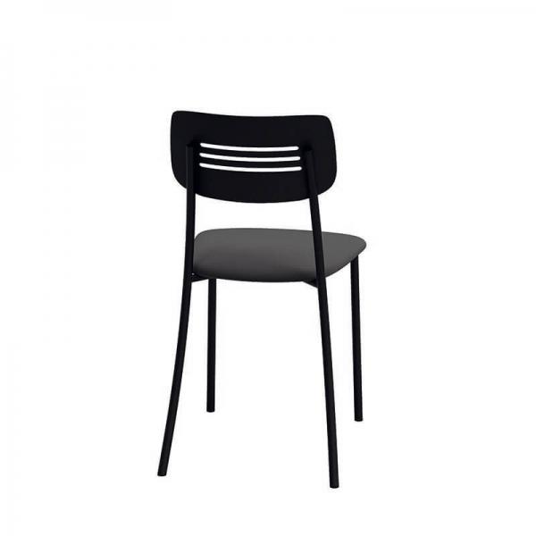 Chaise de cuisine en métal noir - Miro - 3
