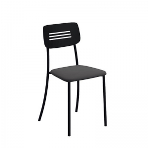 Chaise de cuisine moderne en métal noir - Miro
