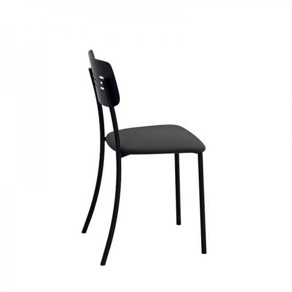 Chaise de cuisine moderne en métal noir - Miro - 5