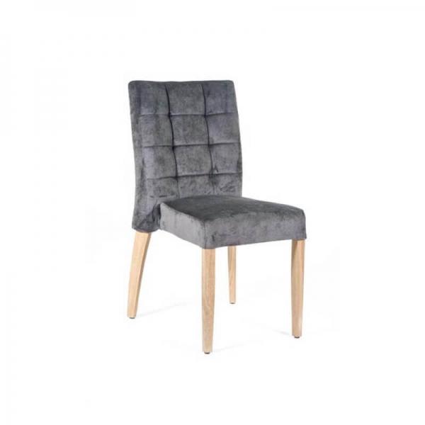 Chaise matelassée grise en tissu style contemporain - Matias 2 stack  - 1