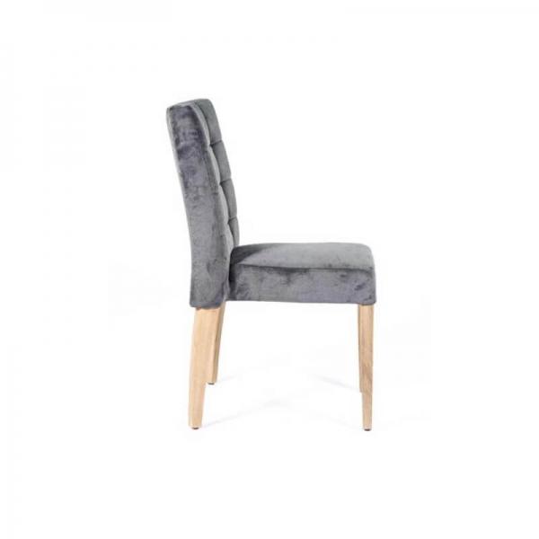 Chaise matelassée grise en tissu style contemporain - Matias 2 stack  - 2