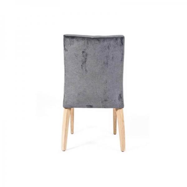 Chaise matelassée grise en tissu style contemporain - Matias 2 stack  - 3