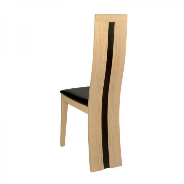 Chaise française en chêne massif rembourrée assise noire - Anis 1420 - 3