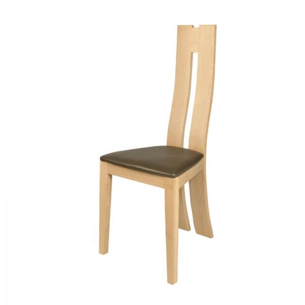 Chaise française en chêne massif rembourrée - Anis 1410 - 2