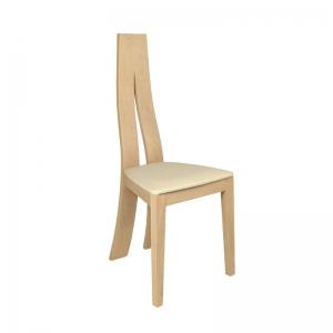 Chaise de salle à manger contemporaine en chêne massif - 1400